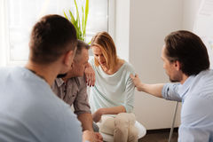 Group of workers while visiting psychological training Stock Image