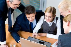 Group working royalty free stock image