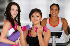 Group Working Out Stock Photos