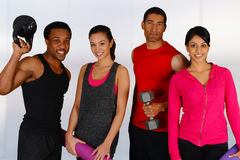 Group Working Out Royalty Free Stock Photography