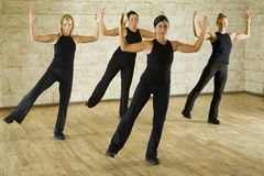 Group of the working out women Stock Photos