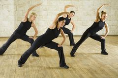 Group of the working out women Royalty Free Stock Photo
