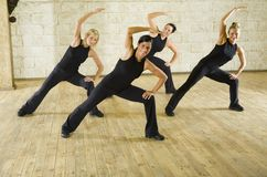 Group of the working out women Stock Photography