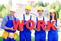 Group of workmen Stock Photos