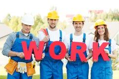 Group of workmen Stock Photo