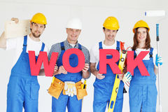 Group of workmen Stock Photography