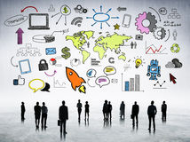 Group of World Business People with Communication Concepts.  Stock Photography