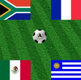 Group A of the world cup. To start in June Stock Image