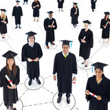 Group of World Graduated students Royalty Free Stock Images