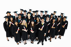 Group of World Graduated students Stock Photo