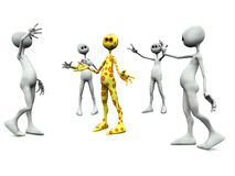 Group of worshiping figures. Stock Images