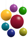 Group of Xmas balls Royalty Free Stock Photography