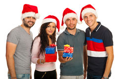 Group of Xmas friends Stock Image