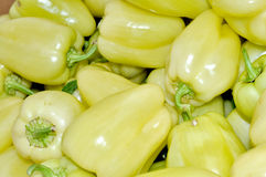 Group of yellow bell peppers Royalty Free Stock Photography