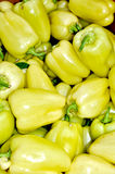 Group of yellow bell peppers Stock Images