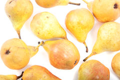 A group of yellow juicy pears Stock Photography