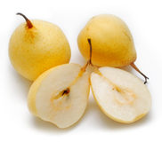 Group of yellow pears Stock Image
