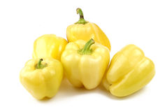 Group of Yellow Peppers Stock Photo
