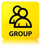 Group yellow square button Royalty Free Stock Images