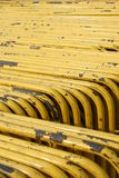 Group of Yellow steel road block Royalty Free Stock Image