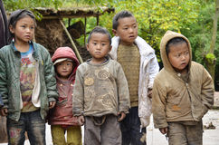 A group of Yi children,China. Royalty Free Stock Photo