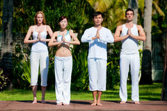 Group Yoga Royalty Free Stock Photos