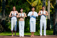Group Yoga Stock Photo