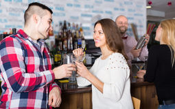 Group of young adults in bar Stock Images