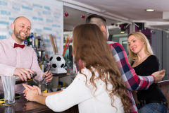 Group of young adults in bar Stock Photography
