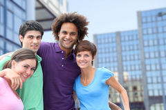 Group of young adults in town Stock Photos