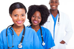African medical workers Royalty Free Stock Images