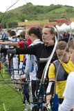 Group of young archers. Stock Photos