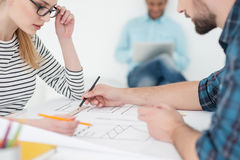 Group of young architects at office Stock Photo
