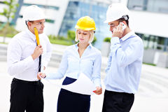 Group of young architects Stock Images