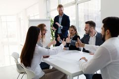 Group of architects working on business meeting stock images