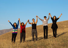 Group of young asian people stock photos