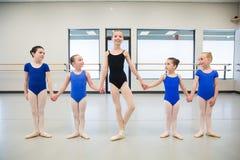 Group of young ballerinas Royalty Free Stock Photos
