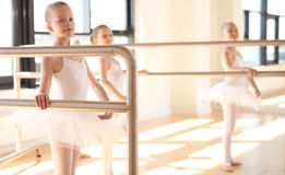 Group of young ballerinas in training Stock Images