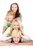 Group of young and beautiful teens Royalty Free Stock Photos
