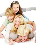 Group of young and beautiful teens Royalty Free Stock Images