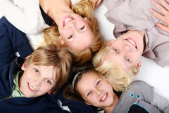 Group of young and beautiful teens Royalty Free Stock Photo