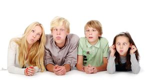 Group of young and beautiful teens Royalty Free Stock Photography