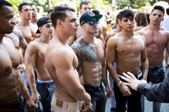 Group of young bodybuilders Stock Images