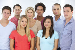 Group Of Young Business People In Casual Dress Stock Image