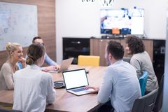 Startup Business Team At A Meeting at modern office building Stock Photos