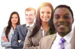 Group of young business people royalty free stock photo