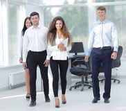 Group of young business people in office Stock Image