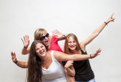 Group of young carefree friends Stock Photo
