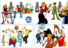 Best musicians stock illustration