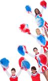 Group of young cheerleaders Royalty Free Stock Photo